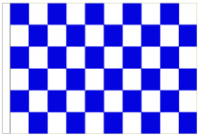Royal Blue And White Check 5' x 3' Larger Sleeved Flag